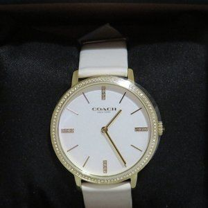 Coach 35mm Audrey Leather Strap Watch